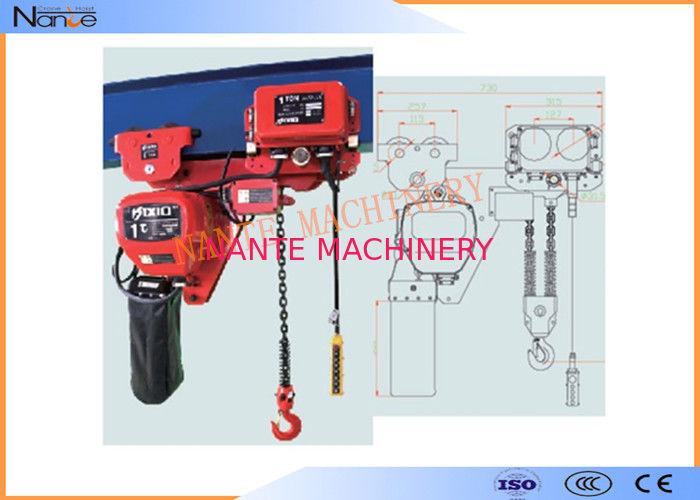 Low Headroom Heavy Duty Motorized Stage Hoist High Wearable And Anti Corrosive